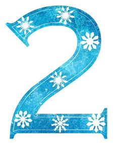 """2"" free Frozen snowflake number"