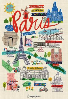 Map of Paris. Part of our city/world collection. Plan Paris, Paris 3, I Love Paris, Travel Maps, Paris Travel, France Travel, Travel Posters, Gravure Illustration, Travel Illustration