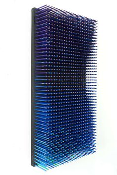 1stdibs.com | Dynamic Optical Wall Sculptures made of colored pencils $1,200