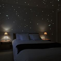 Wandkings Wall Stickers A Starry Night with 250 Stars & Shooting Stars Glow-in-the-Dark