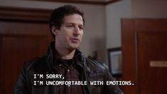 feelings: Attention Hulu or Netflix: Please save Brooklyn Nine-Nine!Attention Hulu or Netflix: Please save Brooklyn Nine-Nine! Brooklyn Nine Nine, Brooklyn 9 9, Tv Show Quotes, Film Quotes, Funny Quotes, Quotes From Tv Shows, Funny Gifs, Lyric Quotes, Meme Comics