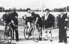 "Alfonsina Morini Strada The Woman Who Rode the 1924 Giro  A 1923 photo of Strada. The rider on the left is Giovanni Gerbi (nicknamed ""The Red Devil""), the greatest Italian rider never to have won the Giro."