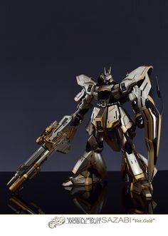 GUNDAM GUY: MG 1/100 Sazabi Ver. Gold - Customized Build