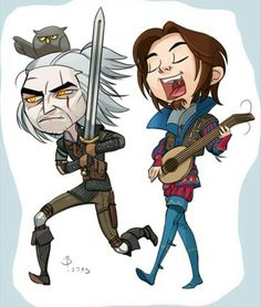 Geralt and Dandelion :D | Witcher