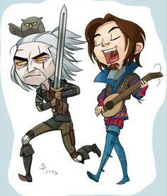 Geralt and Dandelion :D | Witcher