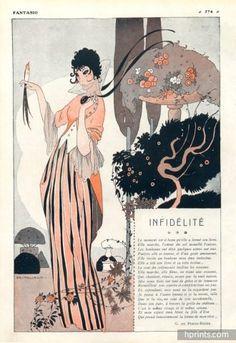 Umberto Brunelleschi 1914 Infidélité Sexy Girl