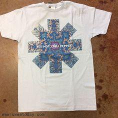 Red Hot Chili Peppers Kaleidoscope T-shirt Band Merch, Band Tees, Tenacious D, Fashion Wear, Clothing Items, Hot, Shirt Designs, Tee Shirts, Cute Outfits