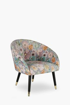 Noble Velvet Printed Chair - Shop New In - Furniture - Shop Upholstered Furniture, New Furniture, Furniture Shop, Shop Chair, Chair, Velvet Chair, Printed Chair, Saucer Chairs, Occasional Chairs
