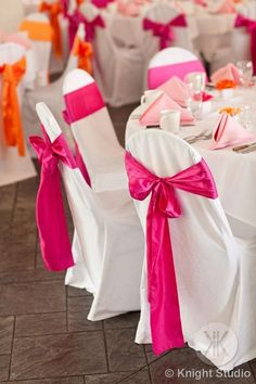 A classic look for your wedding? We have all the chair covers and sashes you need in our online store.