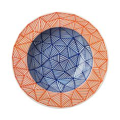 GEODD -  Hand drawn blue and orange bowl