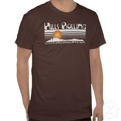 Hills Rolling - Logo on Brown American Apparel T-Shirt. Check out the music.  itunes.com/HillsRolling  www.HillsRolling.com