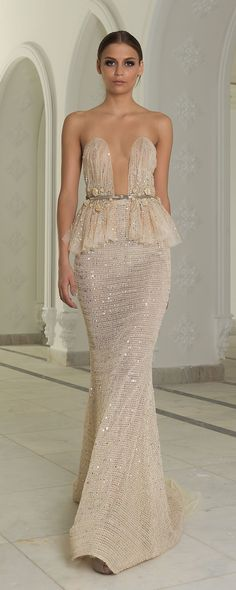Abed Mahfouz Fall-winter 2014-2015 - Couture - http://www.orientpalms.com/abed-mahfouz-4851