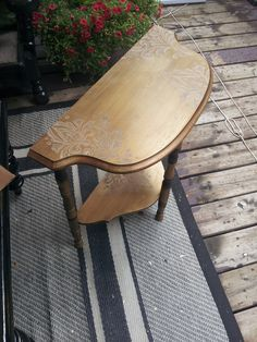 Gold half round Table. After Half Round Table, Painted Furniture, Projects, Gold, Painting, Log Projects, Painting Art, Paintings, Paint