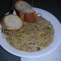 Linguini with White Clam Sauce - Of course I love simplicity.  This is one of the most simple recipes.  However, all I do is use two cans of PROGRESSO WHITE CLAM sauce with 1/2 stick of butter for the sauce.  Cook the pasta of your choice and drain.  Pour the Progresso sauce heated with melted butter over it and top with parmesan cheese - I prefer the dehydrated shaker cheese to the fresh for this particular dish.