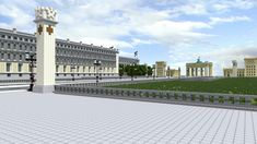 Minecraft Projects, Minecraft Ideas, Minecraft Architecture, Minecraft Buildings, Welthauptstadt Germania, Big Building, Berlin, Character Design, Castle