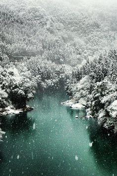 Okutama snow scene