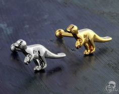 Dinosaur Barbell Body Jewellery, Jewelry, Tragus, Barbell, Lion Sculpture, Statue, Gauges, Piercings, Animals