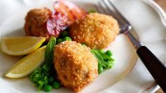 Back in fashion: Crumbed brains.