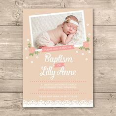 8 Best Baptism Christening Invitations Images