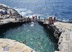 Giola,Thassos, spectaculoasa piscina a sirenelor! Waves, Outdoor Decor, Swiming Pool, Greece, Green, Ocean Waves, Beach Waves, Wave