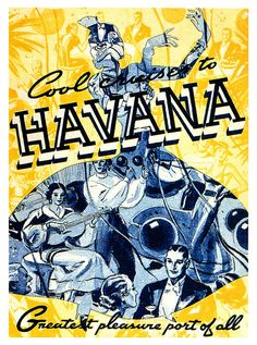 Cool Cruises To Havana  1938.