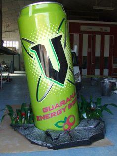 Lata de Guarana fabricada en alumino con impresión digital
