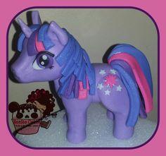 My little pony twilight sparkle!  Just fondant.