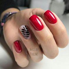 Nail art Christmas - the festive spirit on the nails. Over 70 creative ideas and tutorials - My Nails Red Summer Nails, Green Nails, Pink Nails, My Nails, Trendy Nails, Cute Nails, Short Red Nails, Mexican Nails, Red Nail Designs