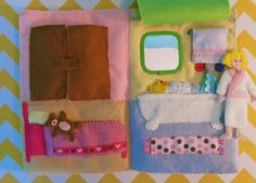 Quiet Book Dollhouse Page – Bed & Bath Page | Imagine Our Life