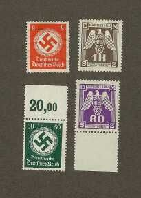 A few nice postage stamp specimens from the Third Reich