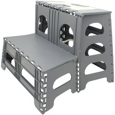 Double Step Stool Stair RV Camper Motorhome Portable Ladder Reach Easy Storage