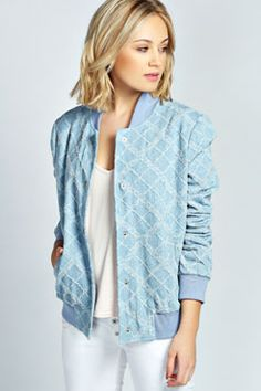 Charlize Bomber Jacket from Bohoo. Super cute to throw over your jeans or skirt for summer.
