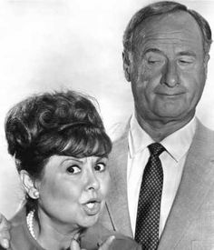 Bewitched (1964-72)  Sandra Gould as Gladys Kravitz (#2) and George Tobias as Abner Kravitz