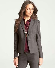Good example of a power suit in fall colors!