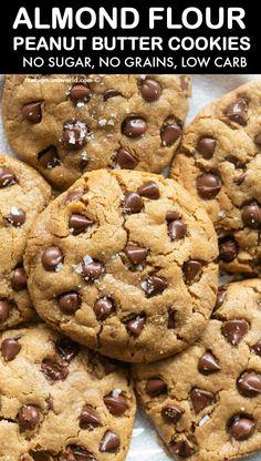 Keto Cookies, Healthy Peanut Butter Cookies, Almond Butter Cookies, No Flour Cookies, Low Carb Peanut Butter, Butter Cookies Recipe, Healthy Cookies For Kids, Peanut Flour, Keto Peanut Butter Cookies