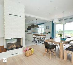 Realizacja domu na Mazurach - Jadalnia, styl skandynawski - zdjęcie od Vprojekt