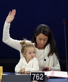 Licia Ronzulli & daughter Victoria @ European Parliament