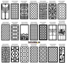 Custom cabinet/window/door inserts in a variety of patterns - would really help to get the look we're going for without having to find it in salvage!