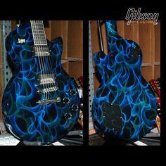 Custom Shop blue smoke Gibson Les Paul