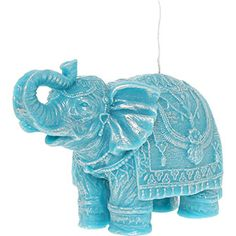 Turquoise Elephant Candle