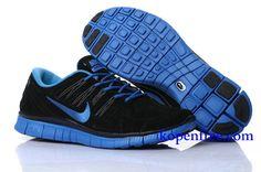 Goedkoop Schoenen Nike Free 5.0 + Dames ( kleur:tong,binnen&logo-blauw;vamp-zwart ) Online Winkel.