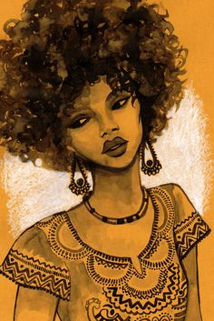 "Afro girl by Marta Bellvehí. ""When you say you will GO natural, what you mean to say is that you will RETURN."" -I Love Being Black"