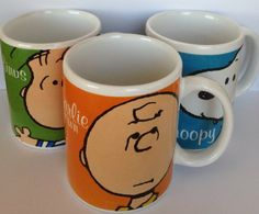 Set of 3 Peanuts Mugs Charlie Brown, Linus, Snoopy By Gibson : Amazon.com : Kitchen & Dining $17.50