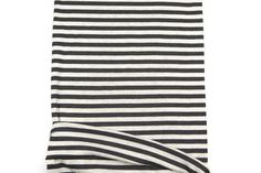 Dark Gray and Light Heather Gray Stripe Rib Knit by felinusfabrics