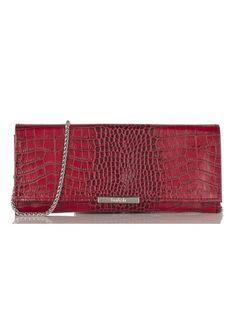 pochette baguette cuir rouge ba sh pour femme sur la boutique en ligne place des