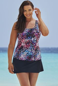 Beach Belle Women's Santorini Classic Skirtini *** See this great product. (This is an affiliate link) #Plussizeswimwear