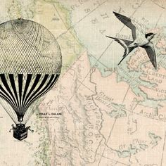 hot air balloon vintage prints - Google Search