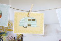 free printable camper illustrations make me think of @Chelsea Rose Rose Roberson and her van living I am so envious of.