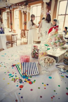 Sweets table http://www.confetti.ie/real-wedding/laura-and-mikes-hipster-diy-village-fete-wedding-celebration