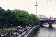 Riverside cafe, Berlin - click to see more and experience Berlin with lilmissboho.com